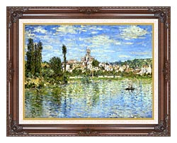 Claude Monet Vetheuil In Summer canvas with dark regal wood frame