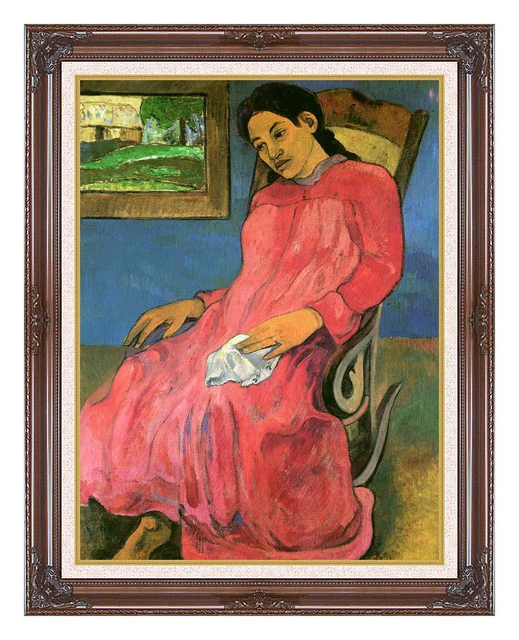 Paul Gauguin The Dreamer with Dark Regal Frame w/Liner
