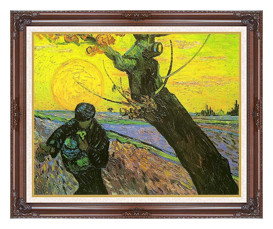 Vincent van Gogh The Sower 1888 with Dark Regal Frame w/Liner