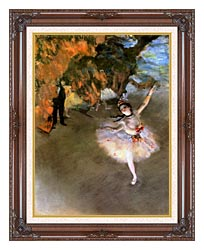 Edgar Degas The Star canvas with dark regal wood frame