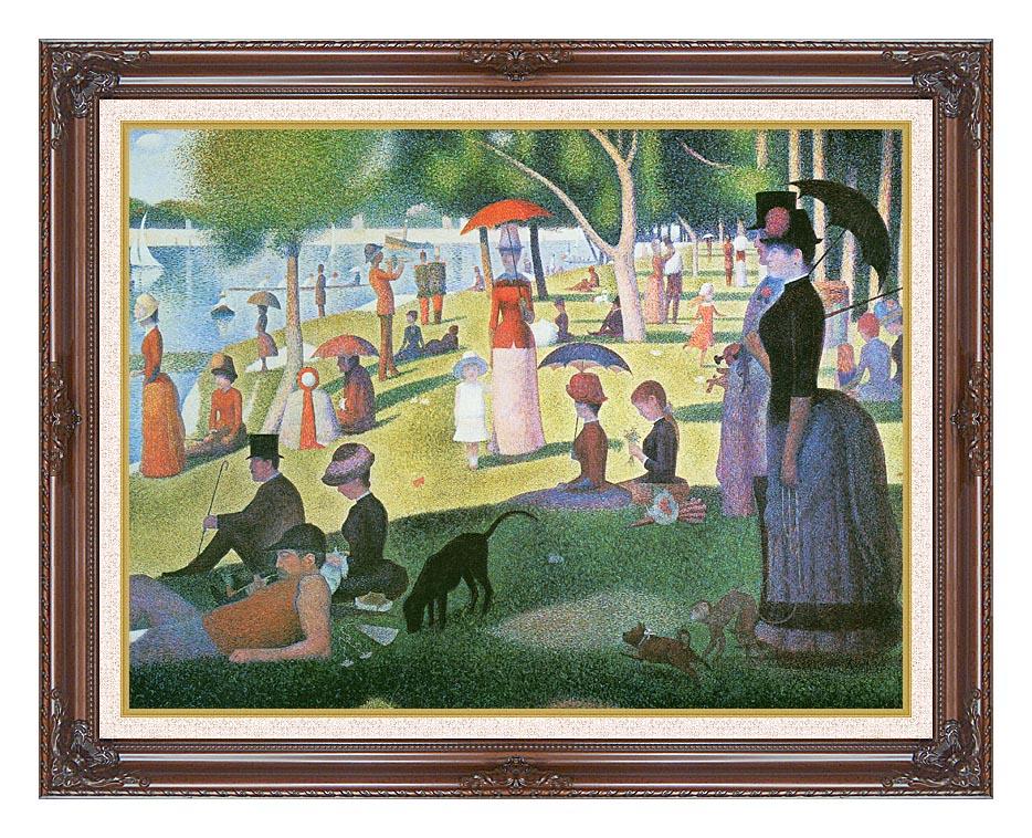 Georges Seurat Sunday Afternoon on the Island of La Grande Jatte with Dark Regal Frame w/Liner