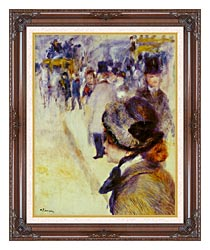 Pierre Auguste Renoir Place Clichy canvas with dark regal wood frame