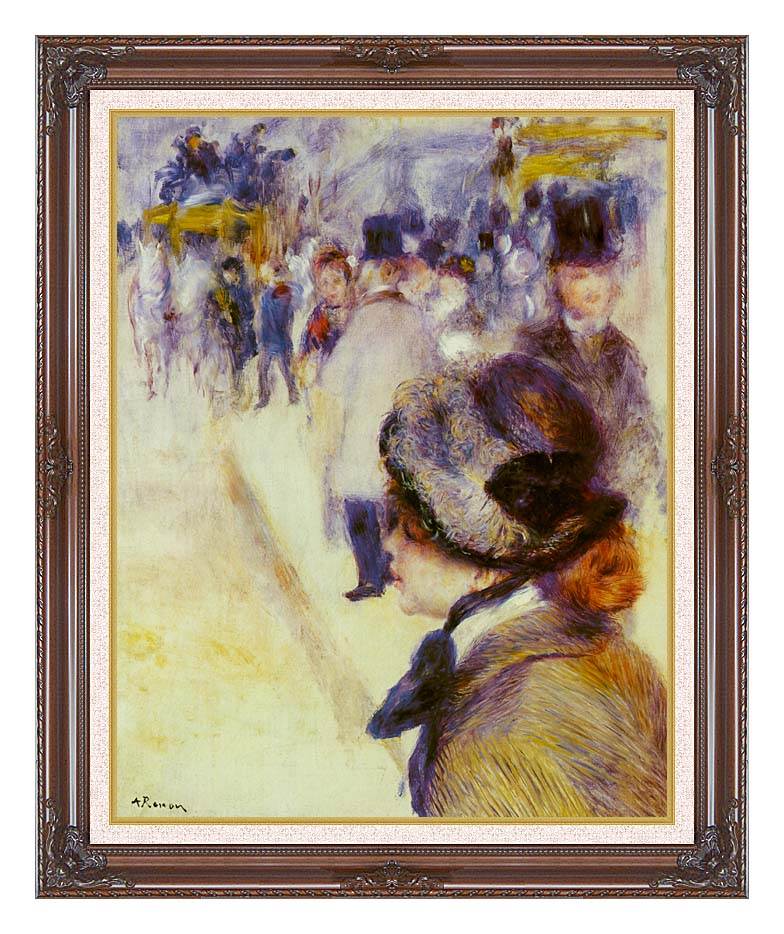 Pierre Auguste Renoir Place Clichy with Dark Regal Frame w/Liner