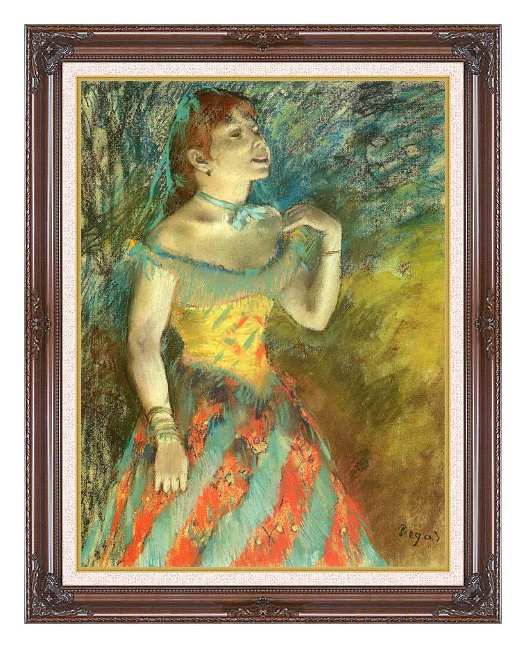 Edgar Degas The Singer in Green with Dark Regal Frame w/Liner