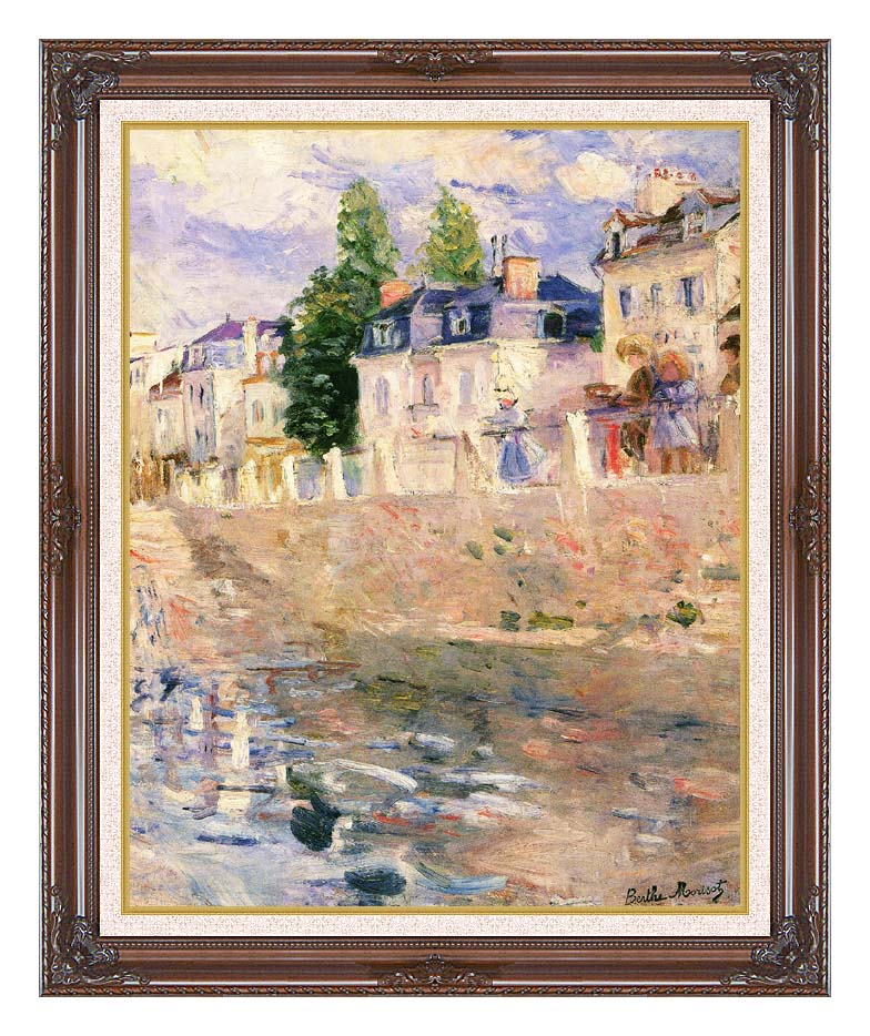 Berthe Morisot The Quay at Bougival with Dark Regal Frame w/Liner