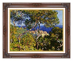 Claude Monet Bordighera canvas with dark regal wood frame