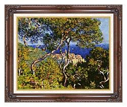 Claude Monet Bordighera canvas with dark regal wood frame