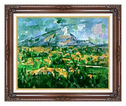 Paul Cezanne Mont Sainte Victoire 1904 canvas with dark regal wood frame