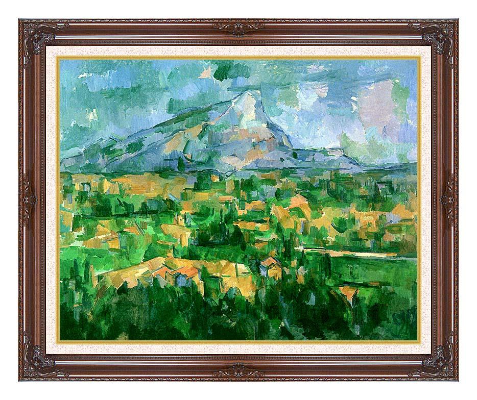 Paul Cezanne Mont Sainte-Victoire 1904 with Dark Regal Frame w/Liner