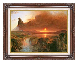 Frederic Edwin Church Cotopaxi Detail canvas with dark regal wood frame