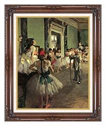 Edgar Degas Dance Class canvas with dark regal wood frame