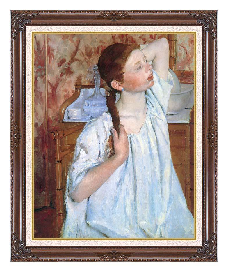 Mary Cassatt Girl Arranging Her Hair with Dark Regal Frame w/Liner