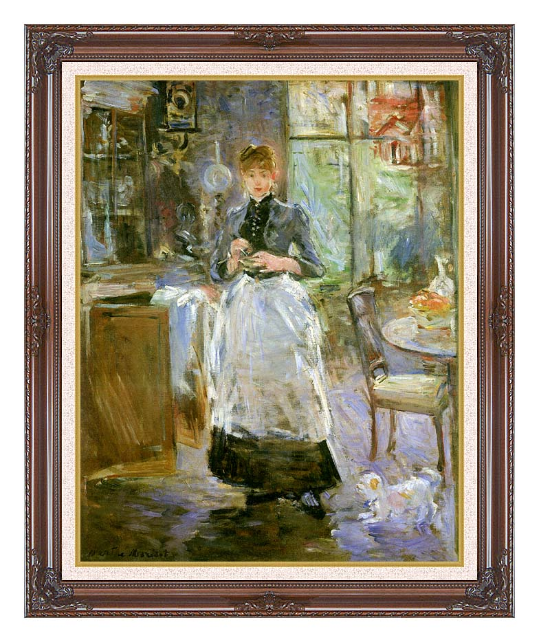 Berthe Morisot In the Dining Room with Dark Regal Frame w/Liner