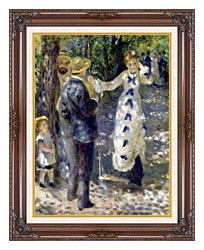 Pierre Auguste Renoir The Swing canvas with dark regal wood frame