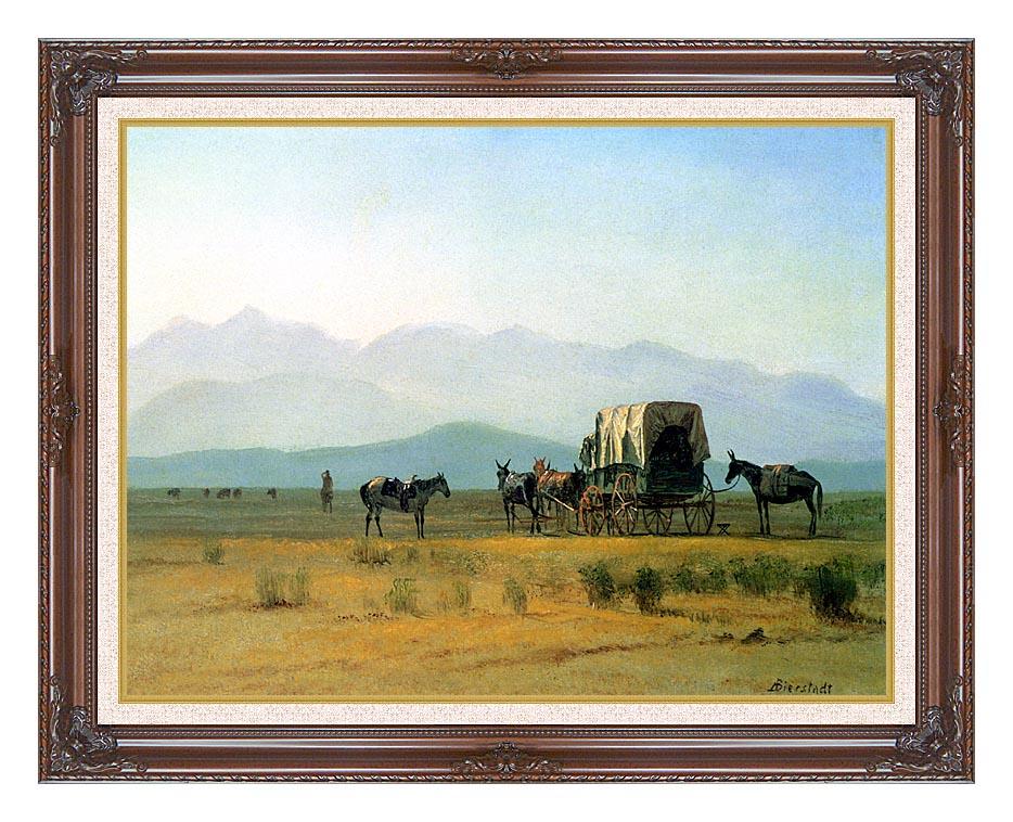 Albert Bierstadt Surveyor's Wagon in the Rockies with Dark Regal Frame w/Liner