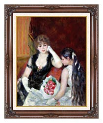 Pierre Auguste Renoir At The Concert canvas with dark regal wood frame
