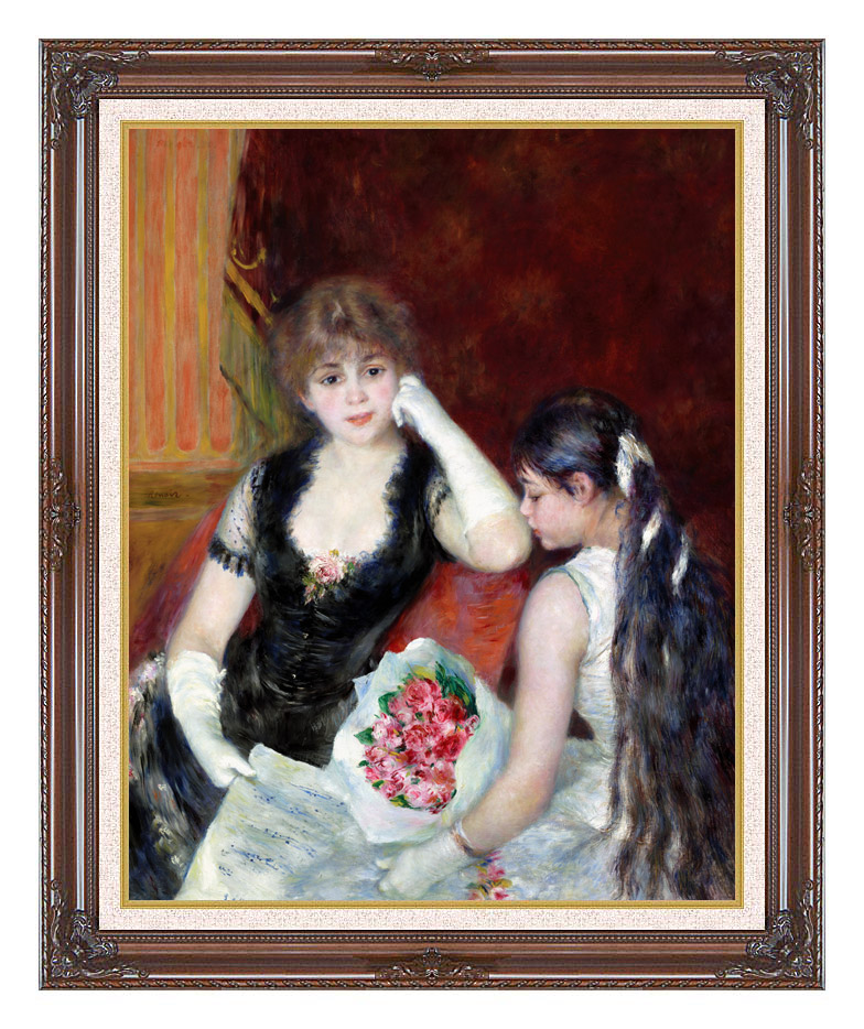 Pierre Auguste Renoir At the Concert with Dark Regal Frame w/Liner