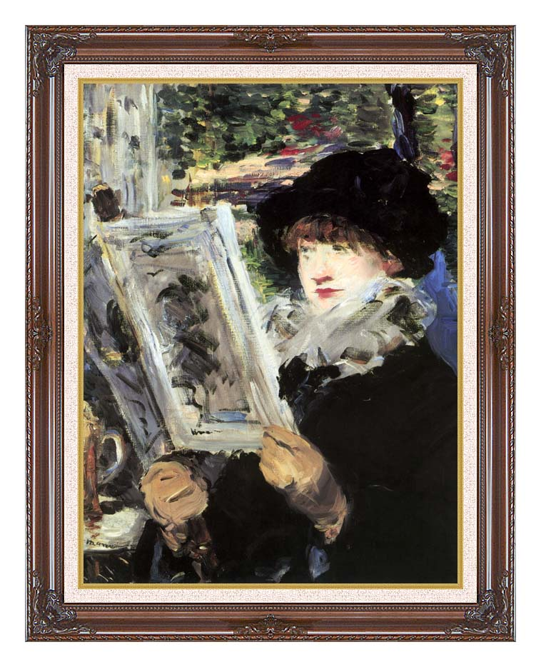 Edouard Manet The Reader with Dark Regal Frame w/Liner