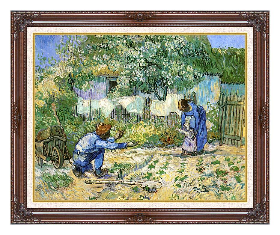 Vincent van Gogh First Steps with Dark Regal Frame w/Liner