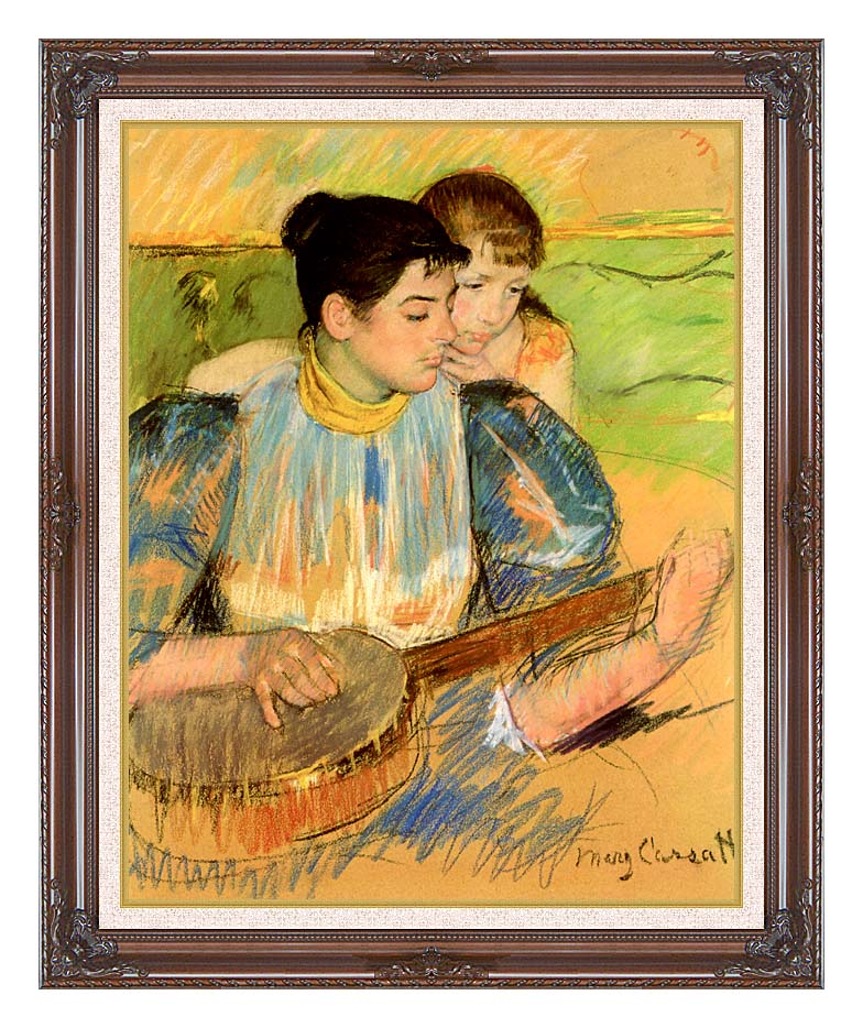 Mary Cassatt The Banjo Lesson with Dark Regal Frame w/Liner