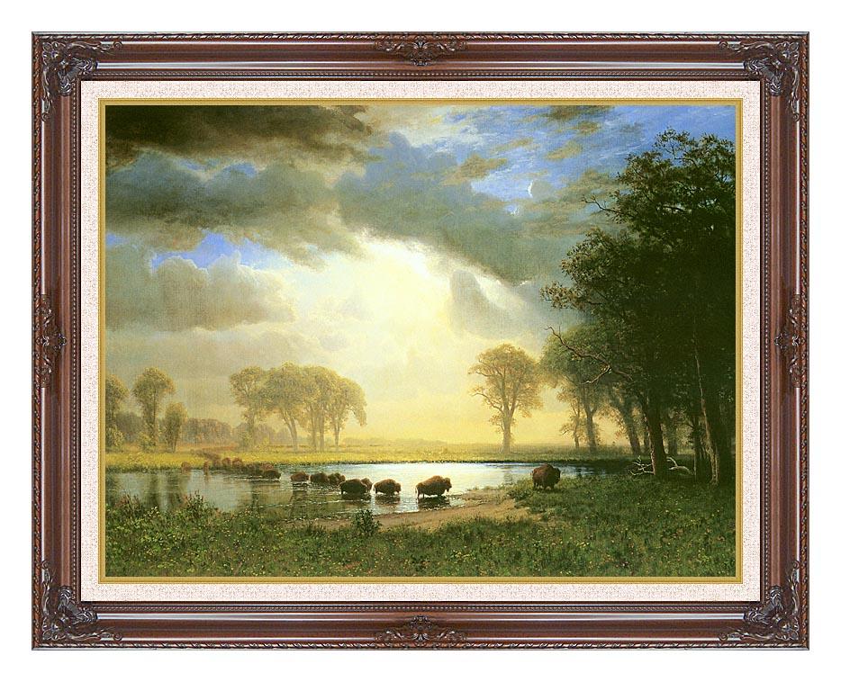 Albert Bierstadt The Buffalo Trail with Dark Regal Frame w/Liner