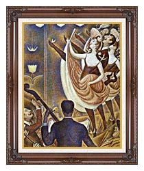 Georges Seurat Le Chahut canvas with dark regal wood frame