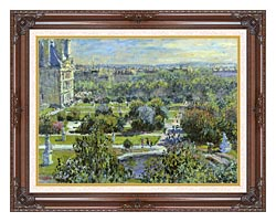 Claude Monet The Tuileries canvas with dark regal wood frame
