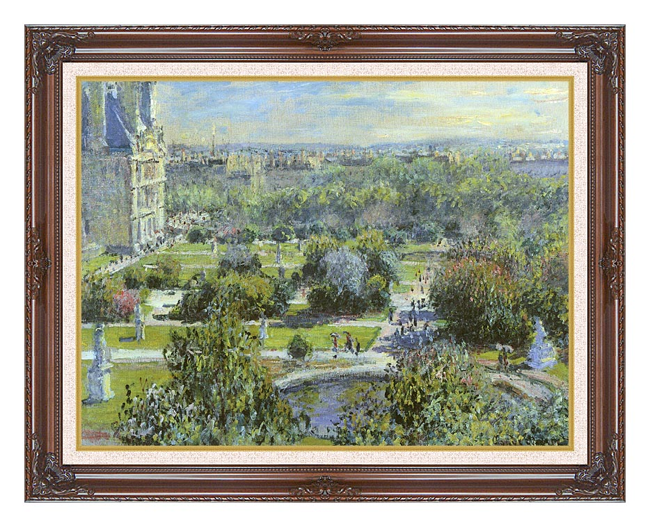 Claude Monet The Tuileries with Dark Regal Frame w/Liner