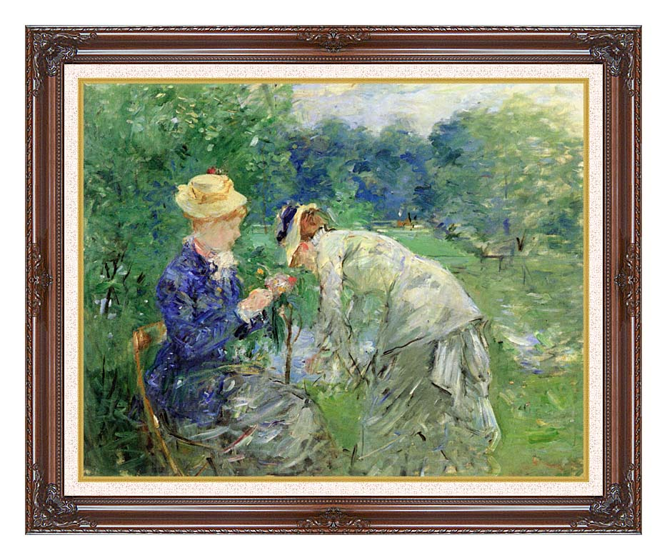 Berthe Morisot In the Garden 1879 with Dark Regal Frame w/Liner