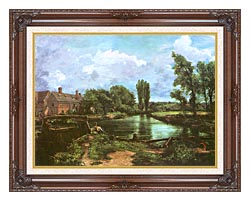 John Constable A Water Mill canvas with dark regal wood frame