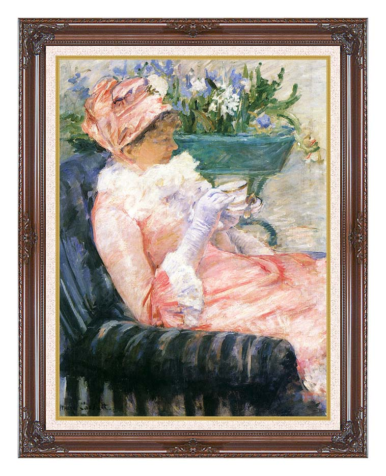 Mary Cassatt The Cup of Tea with Dark Regal Frame w/Liner