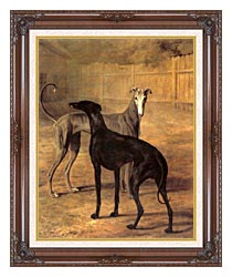 Jacques Laurent Agasse Rolla And Portia canvas with dark regal wood frame