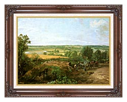 John Constable View Of Dedham canvas with dark regal wood frame