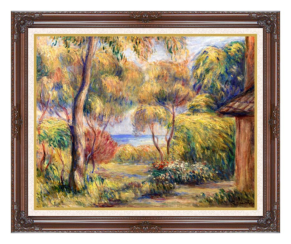 Pierre Auguste Renoir Landscape at Cagnes with Dark Regal Frame w/Liner
