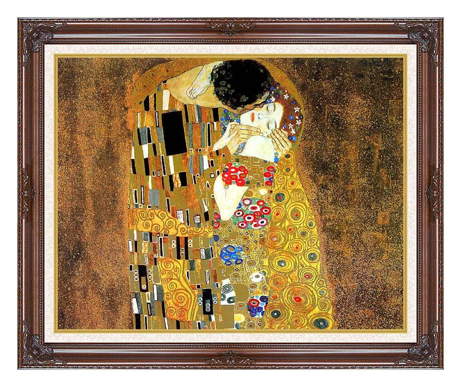 Gustav Klimt The Kiss (landscape detail) 11x14 Framed Art - Canvas ...