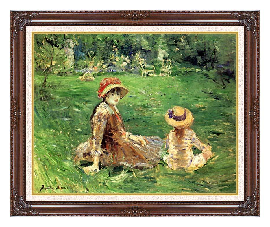 Berthe Morisot In the Garden at Maurecourt with Dark Regal Frame w/Liner