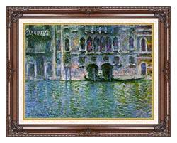 Claude Monet Venice Palazzo Da Mula canvas with dark regal wood frame