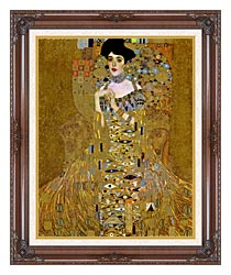 Gustav Klimt Adele Bloch Bauer I Detail canvas with dark regal wood frame
