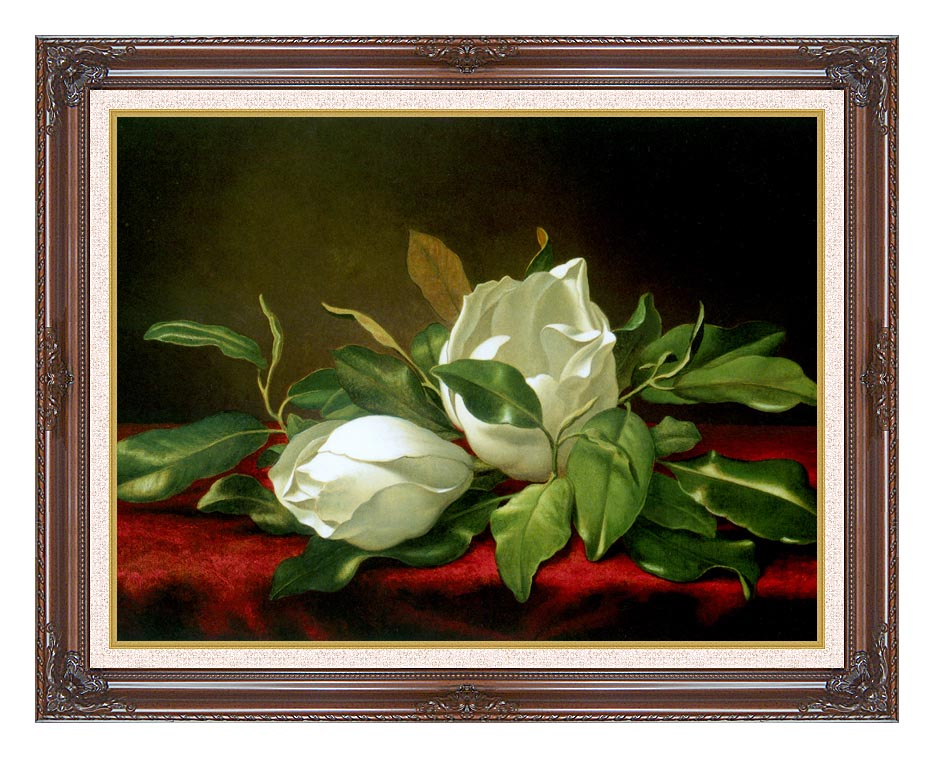 Martin Johnson Heade Giant Magnolias with Dark Regal Frame w/Liner
