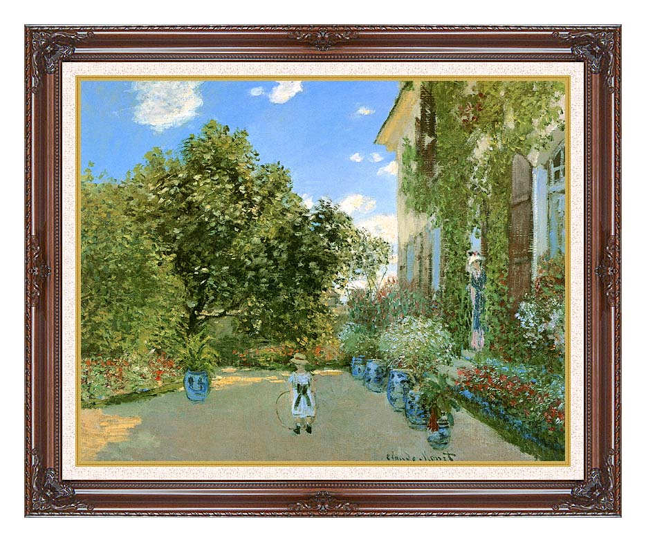 Claude Monet Monet's House at Argenteuil with Dark Regal Frame w/Liner