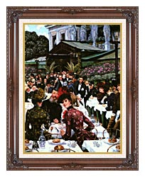 James Tissot The Painters And Their Wives canvas with dark regal wood frame