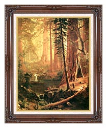 Albert Bierstadt Giant Redwoods Of California canvas with dark regal wood frame