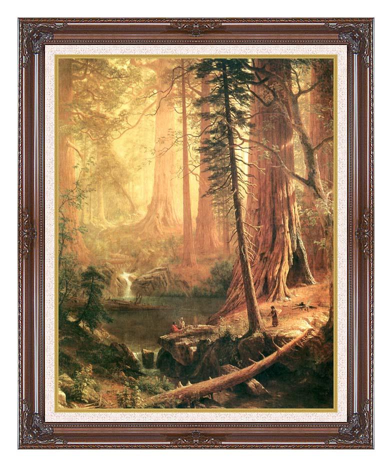 Albert Bierstadt Giant Redwoods of California with Dark Regal Frame w/Liner