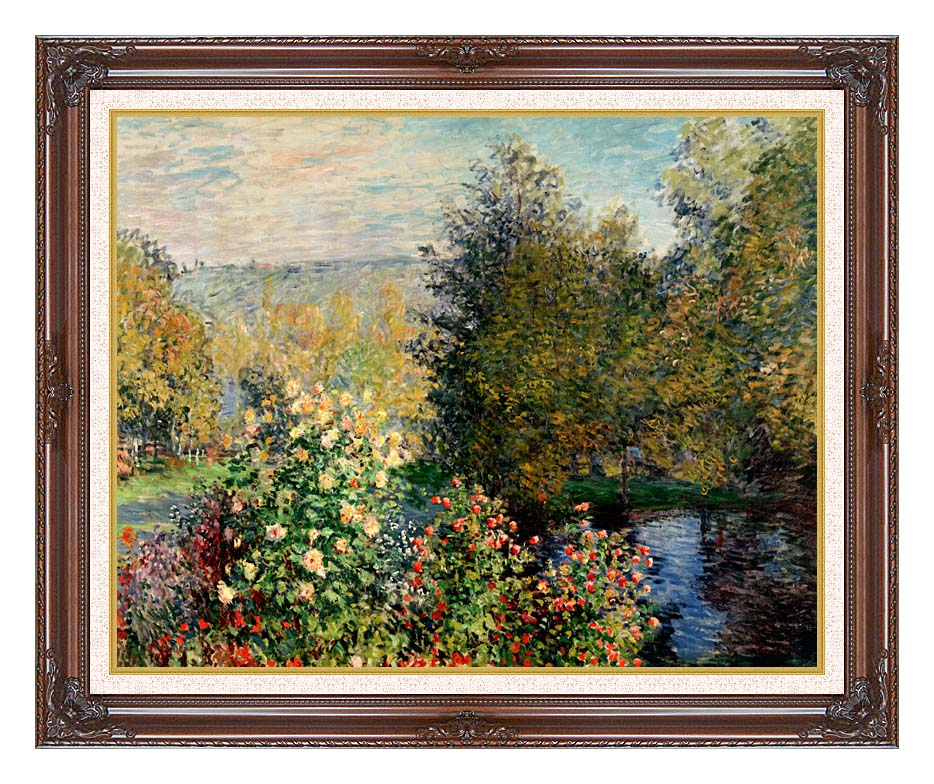 Claude Monet Corner of a Garden at Montgeron with Dark Regal Frame w/Liner