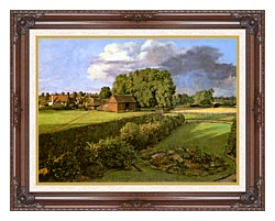 John Constable Golding Constables Flower Garden canvas with dark regal wood frame