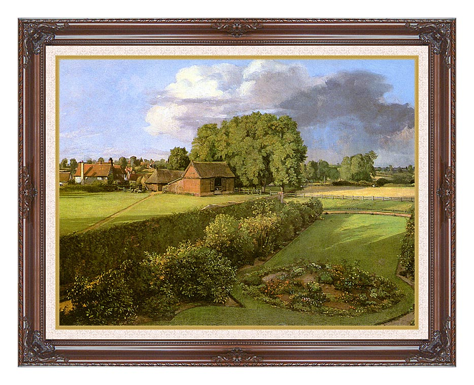 John Constable Golding Constable's Flower Garden with Dark Regal Frame w/Liner