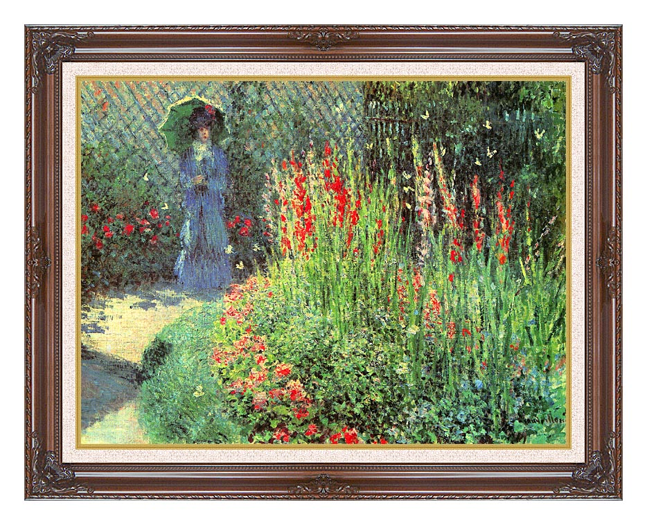 Claude Monet Gladioli with Dark Regal Frame w/Liner