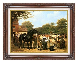 Jacques Laurent Agasse The Country Fair canvas with dark regal wood frame