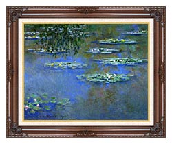Claude Monet Water Lilies 1903 canvas with dark regal wood frame