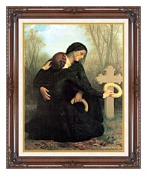 William Bouguereau All Saints Day canvas with dark regal wood frame